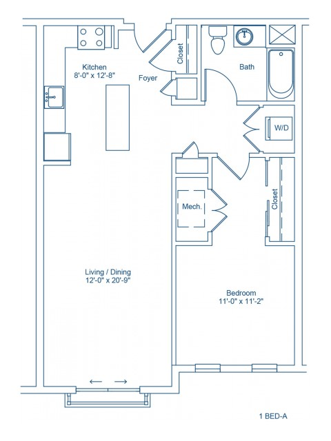 The Shipyard Floor Plan - 1-A