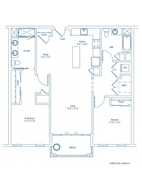 Floor Plan of 2-A
