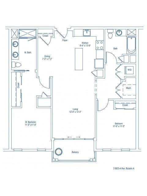 The Shipyard Floor Plan - 2-A