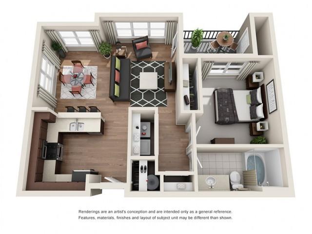 Floorplan 1 | Apartments Portland OR