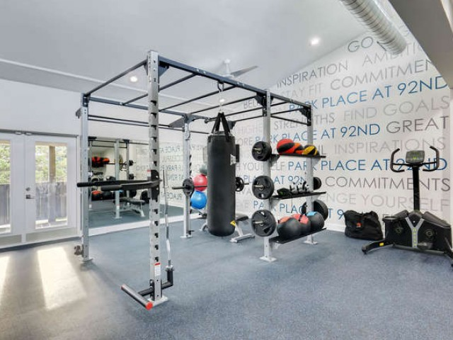 Image of Fitness Center with Free Weights for Park Place at 92nd Apartments