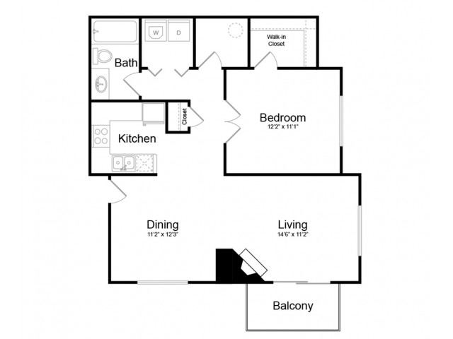 Floor Plan 3 | Apartments Englewood CO | Silver Cliff