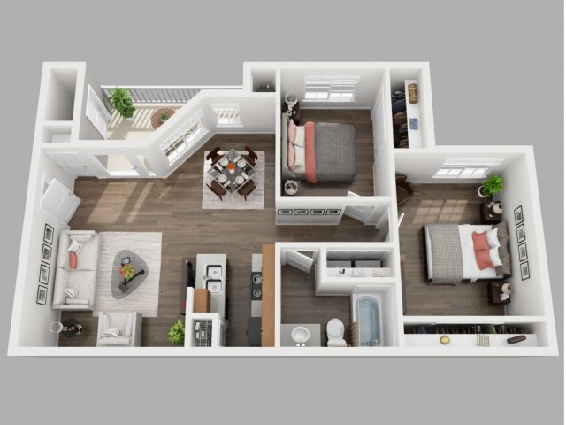 2 Bedroom Floor Plan | Copperwood