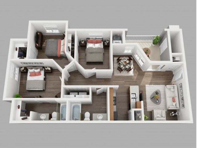 3 Bedroom Floor Plan | Copperwood