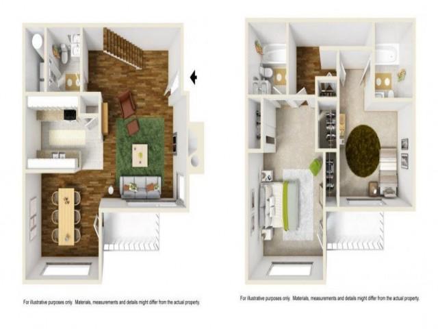 2 Bedroom Floor Plan | Renton Luxury Apartments | Montclair Heights