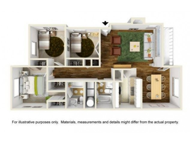 2 Bdrm Floor Plan | Apartments For Rent In Renton Washington | Montclair Heights