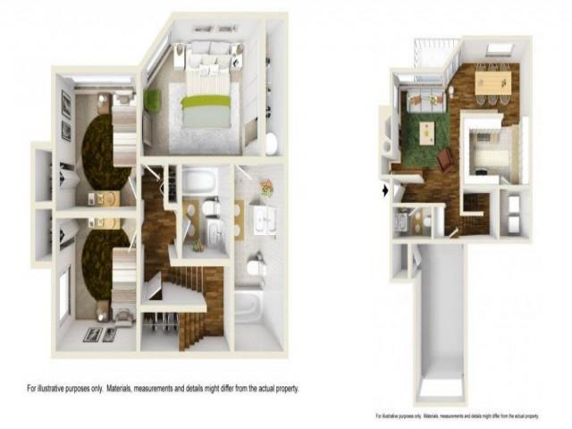 3 Bedroom Floor Plan | Renton Apartments | Montclair Heights 1