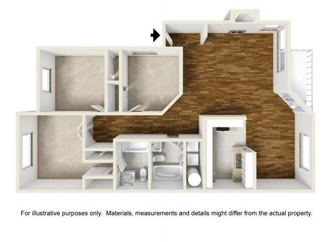 3 Bdrm Floor Plan | Luxury Apartments Renton WA | Montclair Heights