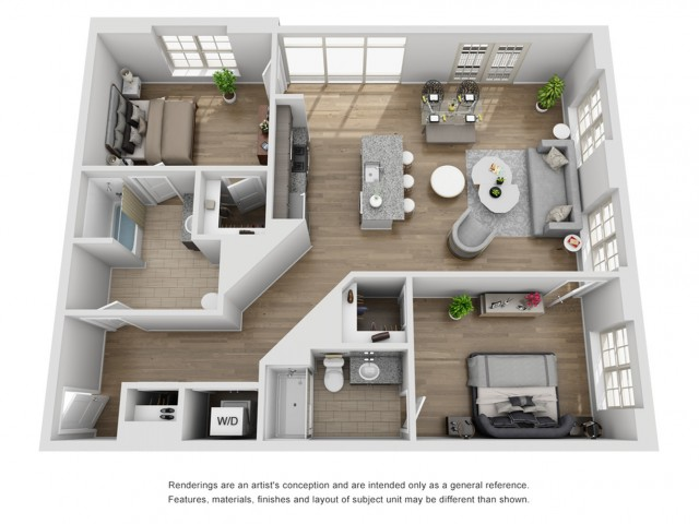 2 Bed 2 Bath Apartment In Secaucus Nj The Harper At Harmon Meadow