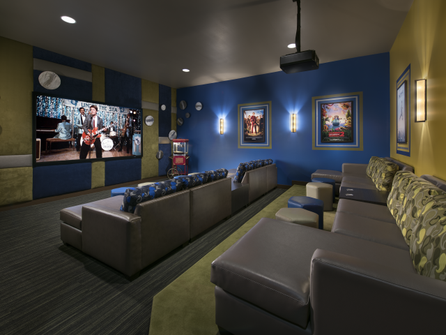 Image of Screening/theater room for Almeria at Ocotillo Apartments