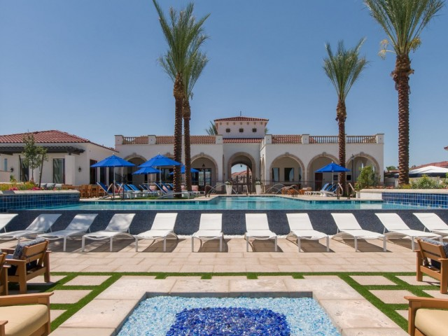 Image of 3 resort-style pools and 2 spas for Almeria at Ocotillo Apartments