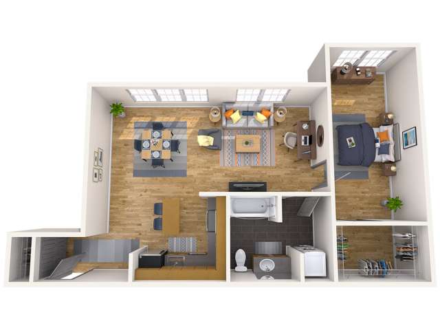 1 BR/1 BA Extra Large | 1 bed 1 bath | from 820 square feet