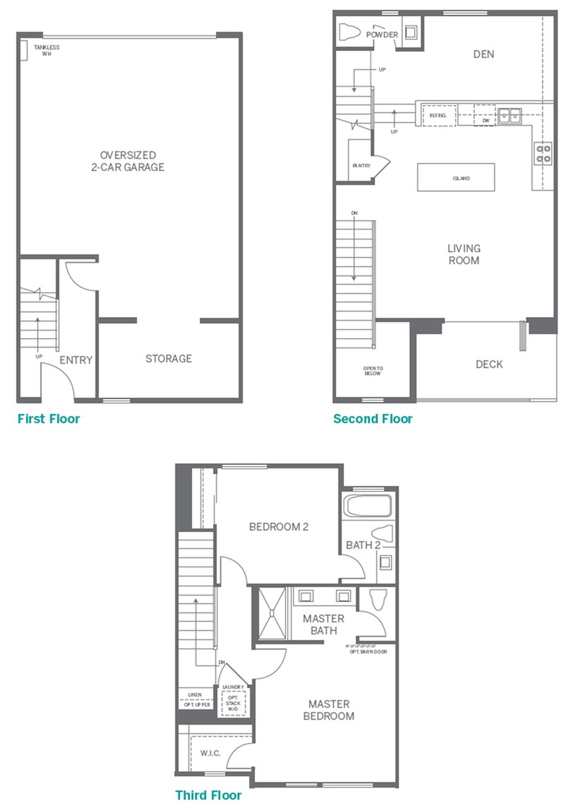 1 | 2 bed 3 bath | from 1235 square feet