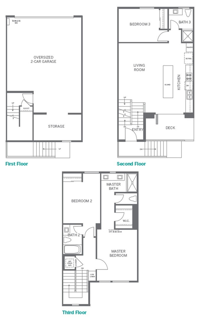2 | 3 bed 3 bath | from 1357 square feet