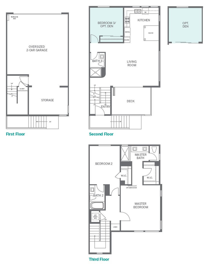 3 | 3 bed 3 bath | from 1486 square feet