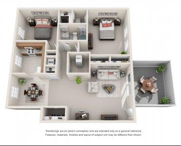 The Benjamin - 2 Bedroom Apartment