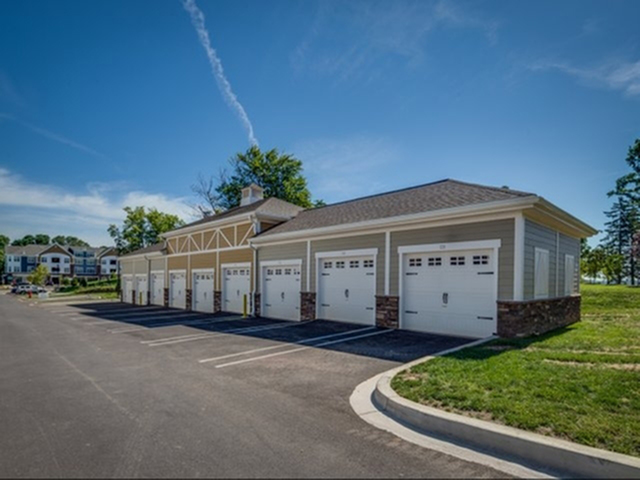 Private garages available for rent at Prospect Hall Apartments.