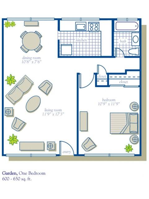 1 Bed - Garden