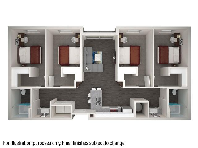 4x2 Fr. Courtyard (Alt)