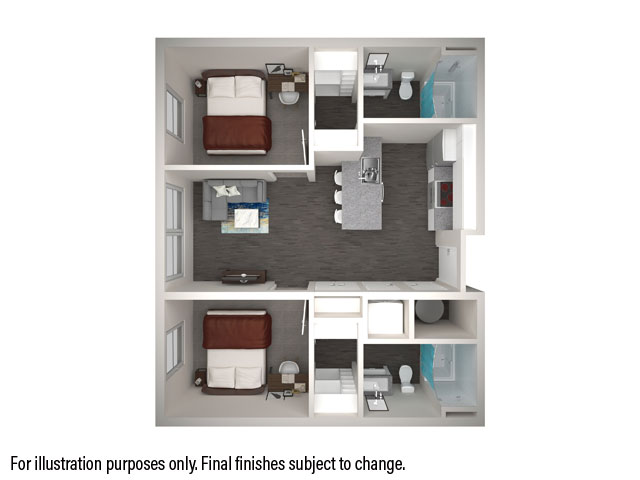 2x2 Floorplan