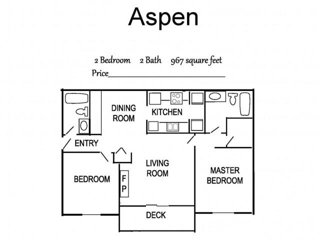Aspen 2x2 967 sq ft