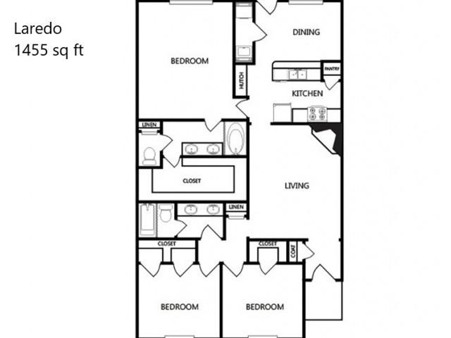 Laredo 3x2 - 1455 sq ft