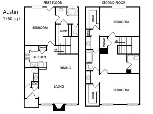 Austin 3x2.5 - 1760 sq ft