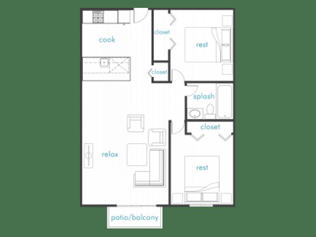 Cayenne - 2 Bedroom 1 Bath
