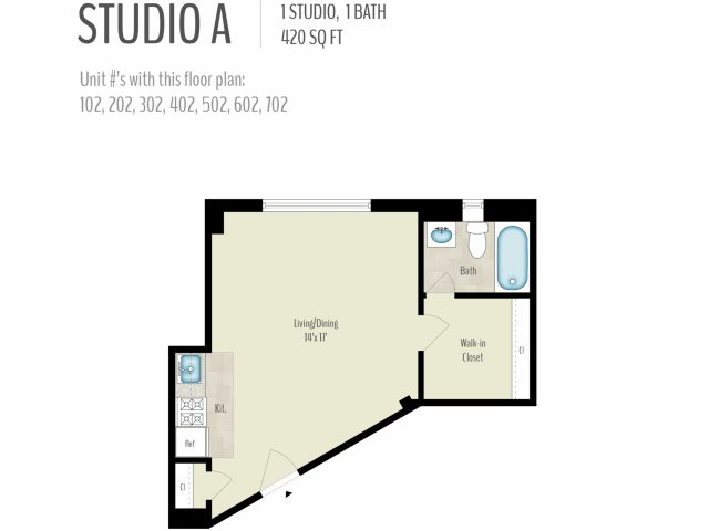 Studio 48 Bath Apartment In Washington DC 54800 Conn Avenue Apartments Amazing 1 Bedroom Apartments In Washington Dc