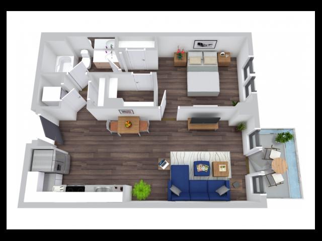 Floor Plan 4 | The Rixey | Arlington Student Housing