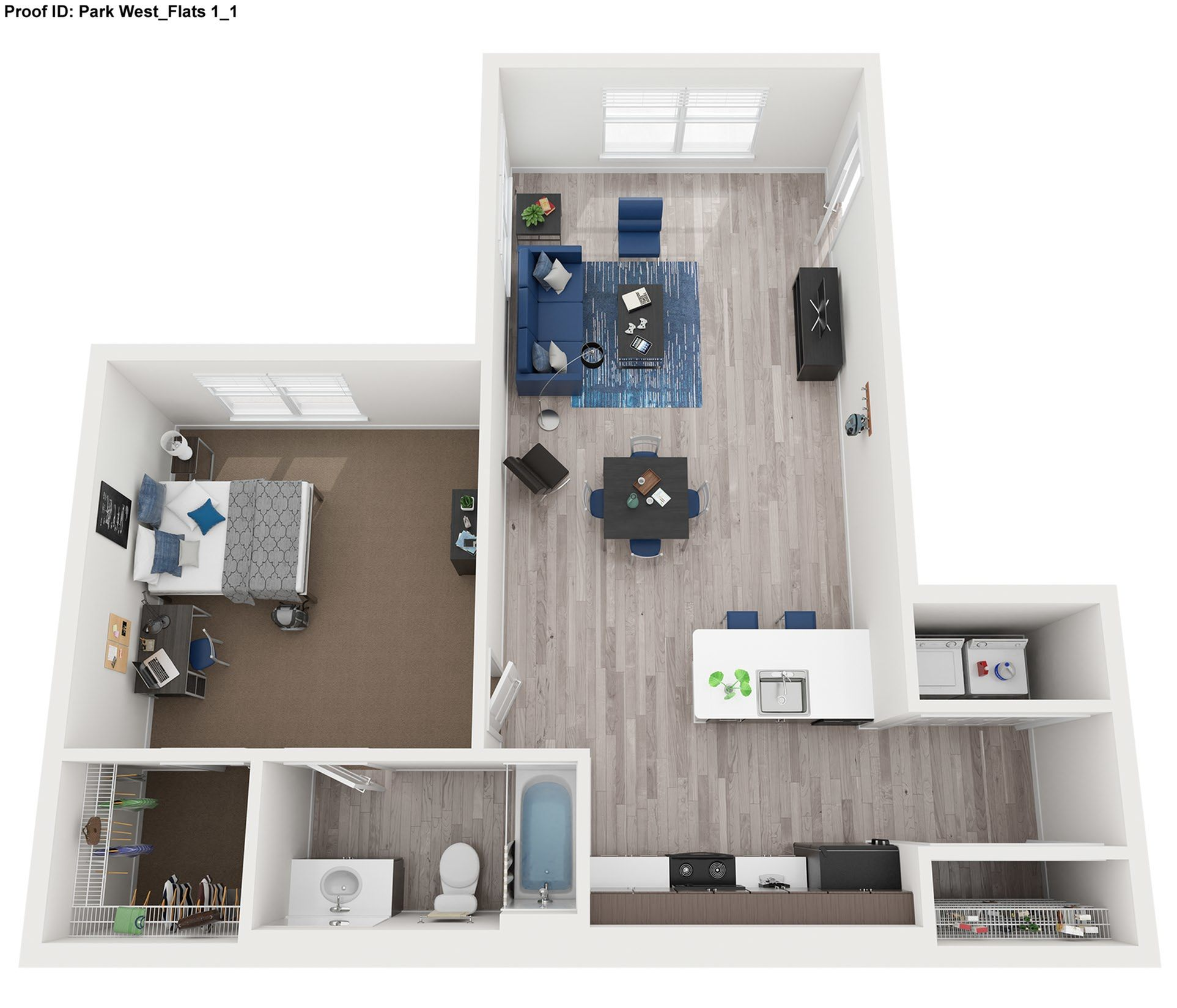 1 Bdrm Floor Plan  |  Park West  | Apartments In College Station, Texas