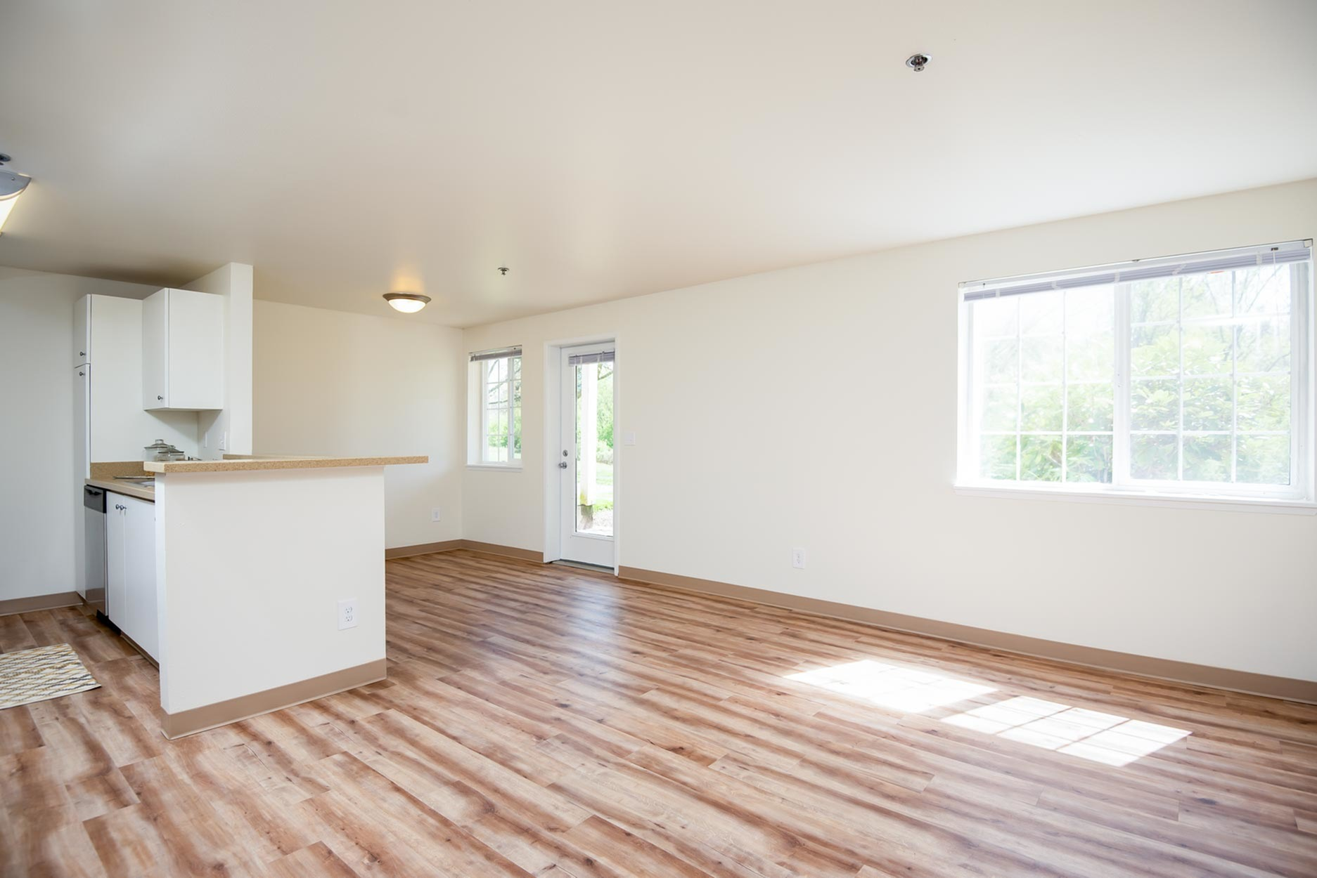 Image of LVT (faux wood) Plank Flooring in Select Homes for Murrayhill Park Apartments