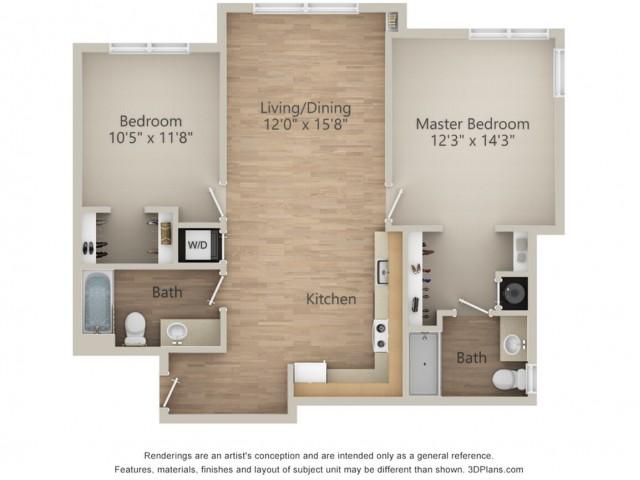 2 Bedroom M