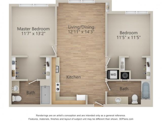 2 Bedroom L