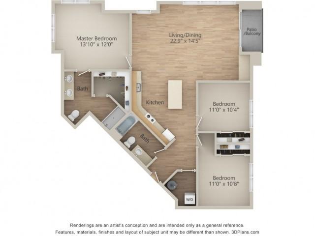 3 Bedroom L