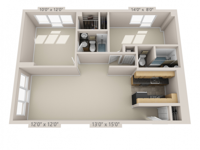 Modern All Floor Plans2 bed B Classic Beautiful - Cool 2 bedroom 2 bath apartment Photos