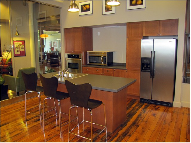 Image of Lounge and caterer's kitchen for Bourne Mill Apartments