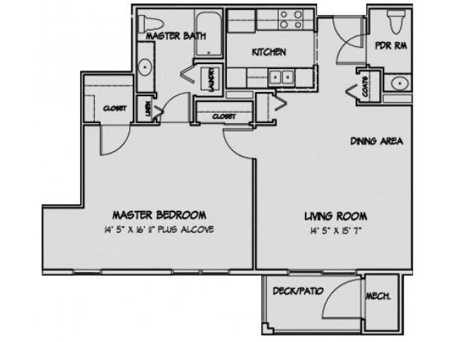 1 Bedroom Floor Plan Paddington