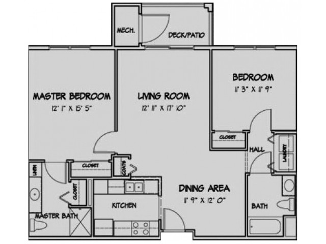 2 Bedroom Floor Plan Sutton