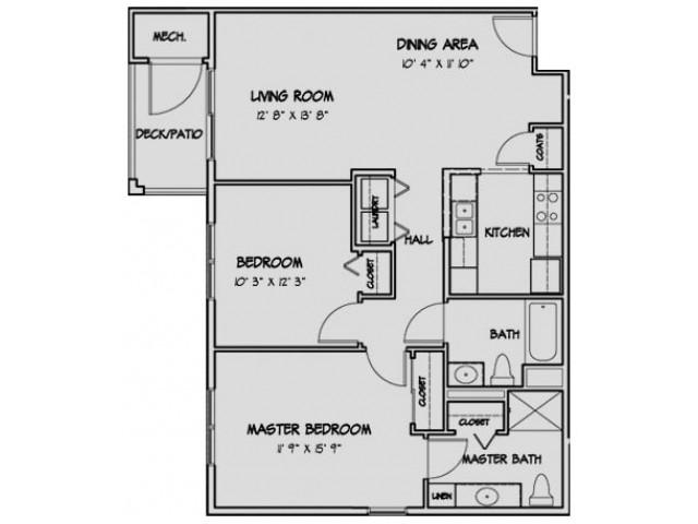 2 Bedroom Floor Plan Stratford