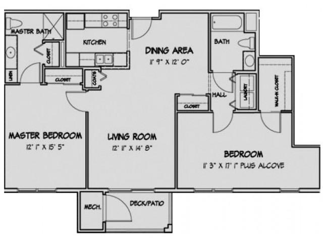 2 Bedroom Floor Plan Spencer