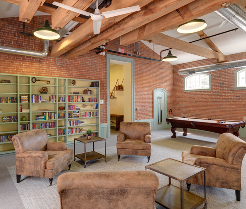 Image of Cozy library for reading and relaxation for Linwood Mill