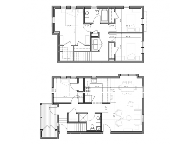 4 Bedroom Townhouse Floor Plan