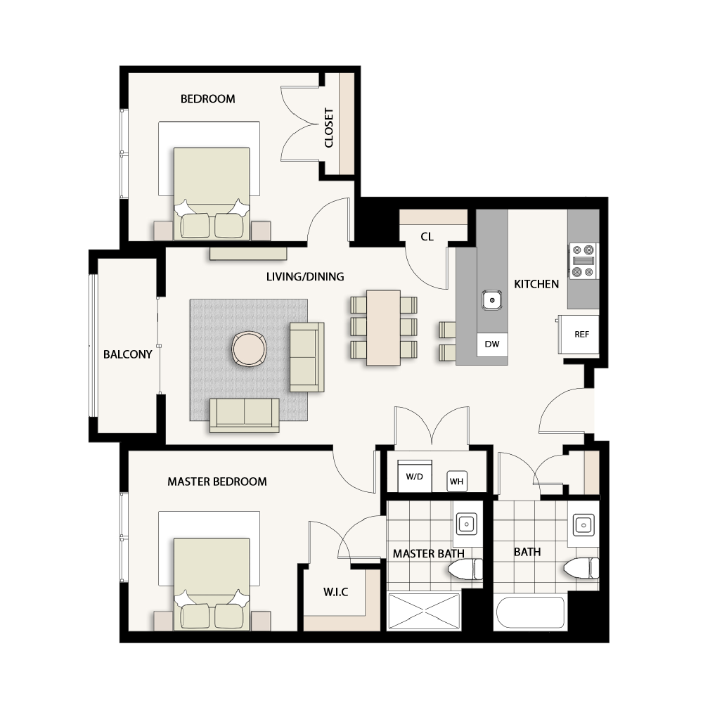 2 Bedroom Type 19