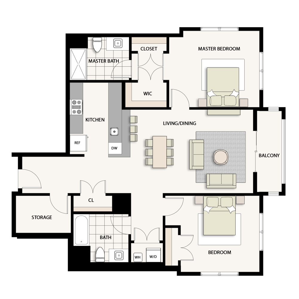 2 Bedroom Type 14