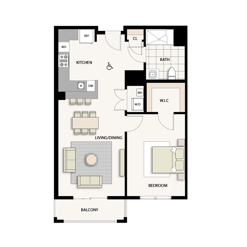 1 Bedroom Type 10