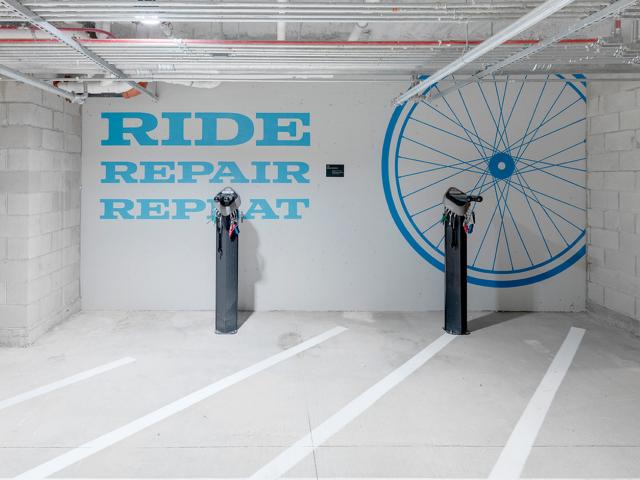 Bike Storage Area | Apartments West Roxbury Ma | Oak Row