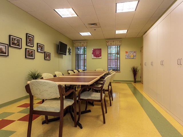 Image of Vibrant activity/club room for Zelma Lacey House