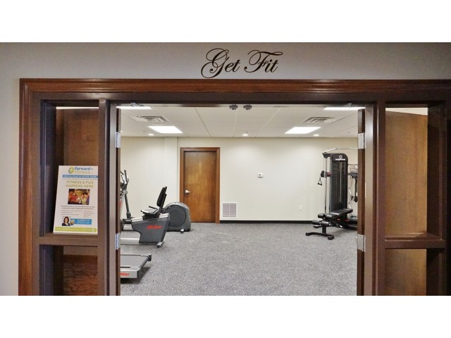 The Belvedere Apartments, interior, fitness center, elliptical, weight machines, treadmill