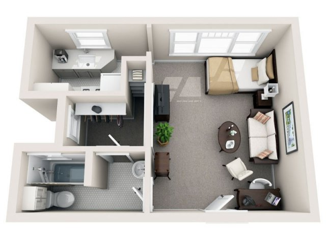 for the Catalunya floor plan. Studio   1 Bath Apartment in San Diego CA   The Barcelona